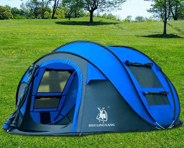 ビッグワンタッチテント 4人用 ブルー ワンタッチ ビッグ テント ワンタッチテント ビッグテント アウトドア キャンプ ポップアップWL023