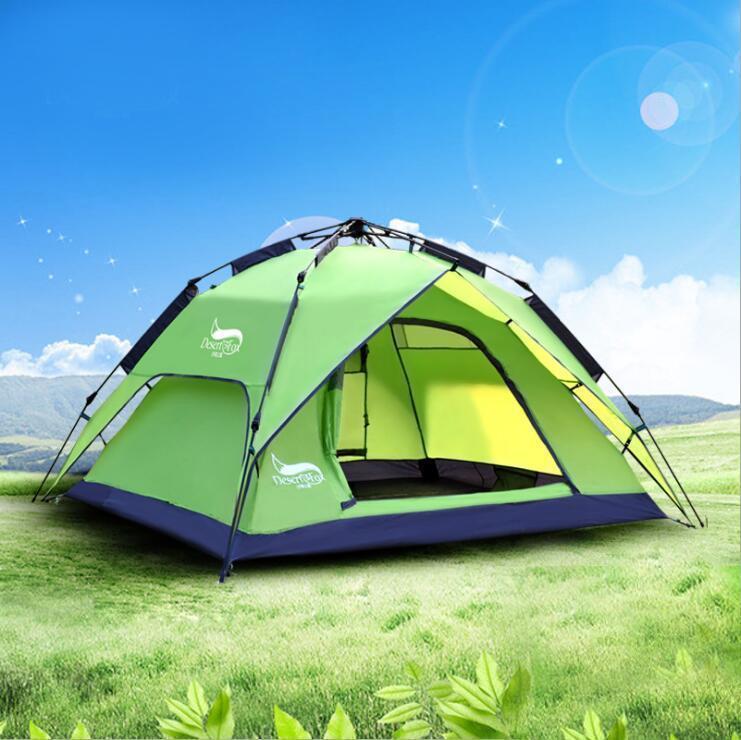 新品ワンタッチテント テント 3~4人用 設営簡単 防災用 2WAY キャンプ用品 撥水加工 紫外線防止 登山 折りたたみ 防水 通気性TT087