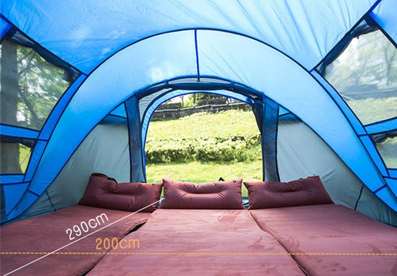 ビッグワンタッチテント 4人用 ブルー ワンタッチ ビッグ テント ワンタッチテント ビッグテント アウトドア キャンプ ポップアップWL023_画像2