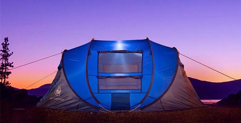 ビッグワンタッチテント 4人用 ブルー ワンタッチ ビッグ テント ワンタッチテント ビッグテント アウトドア キャンプ ポップアップWL023_画像3