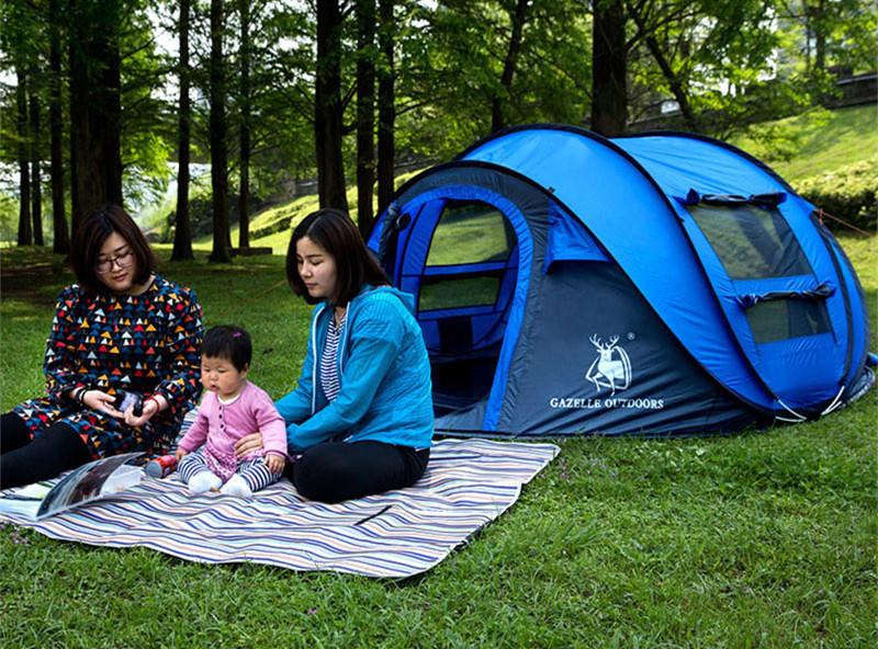 ビッグワンタッチテント 4人用 ブルー ワンタッチ ビッグ テント ワンタッチテント ビッグテント アウトドア キャンプ ポップアップWL023_画像4