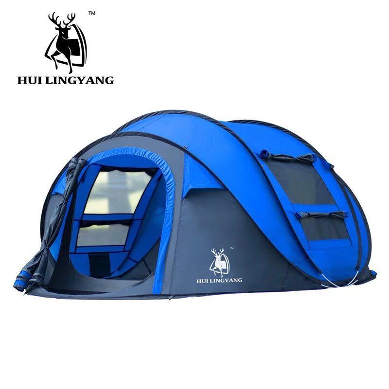 ビッグワンタッチテント 4人用 ブルー ワンタッチ ビッグ テント ワンタッチテント ビッグテント アウトドア キャンプ ポップアップWL023_画像5