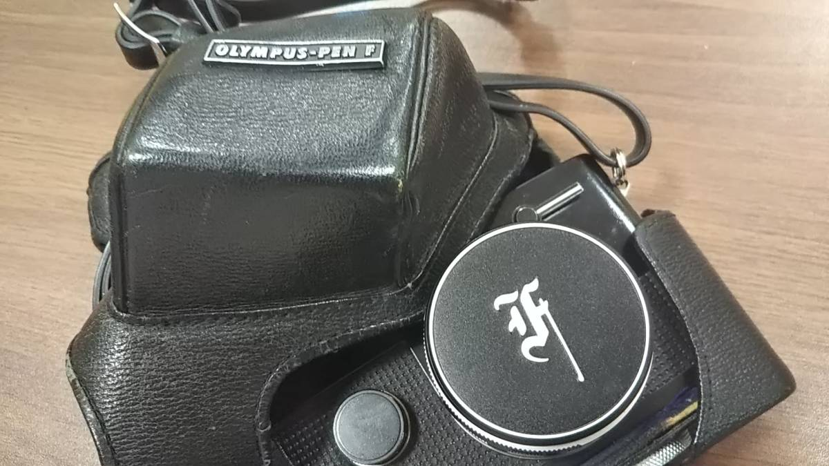 【15098】OLYMPUS オリンパス カメラ OLYMPUS-PEN F F.Zuiko Auto-S 1:4 f=25mm PEN-FT 動作未確認_画像8