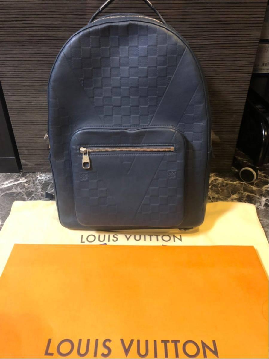 LOUIS VUITTON ルイヴィトン 2017限定品 ダミエ・アンフィニ ジョッシュ バックパック リュック ブルー系