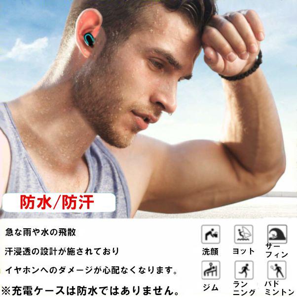 【HBQ】Bluetooth5.0 HIFI 完全ワイヤレス 大容量 充電式 高音質 両耳 極軽 左右分離型 ハンズフリー イヤホン 多機能 _画像5