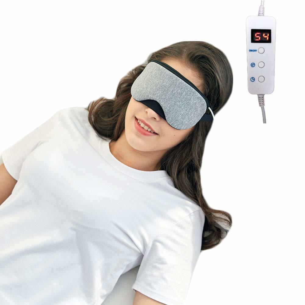 新品●EIALA ホットアイマスク USB電熱式 タイマー設定 5段階温度調整 LCDデジタル表示 蒸気 繰り返し使える M6956_画像2