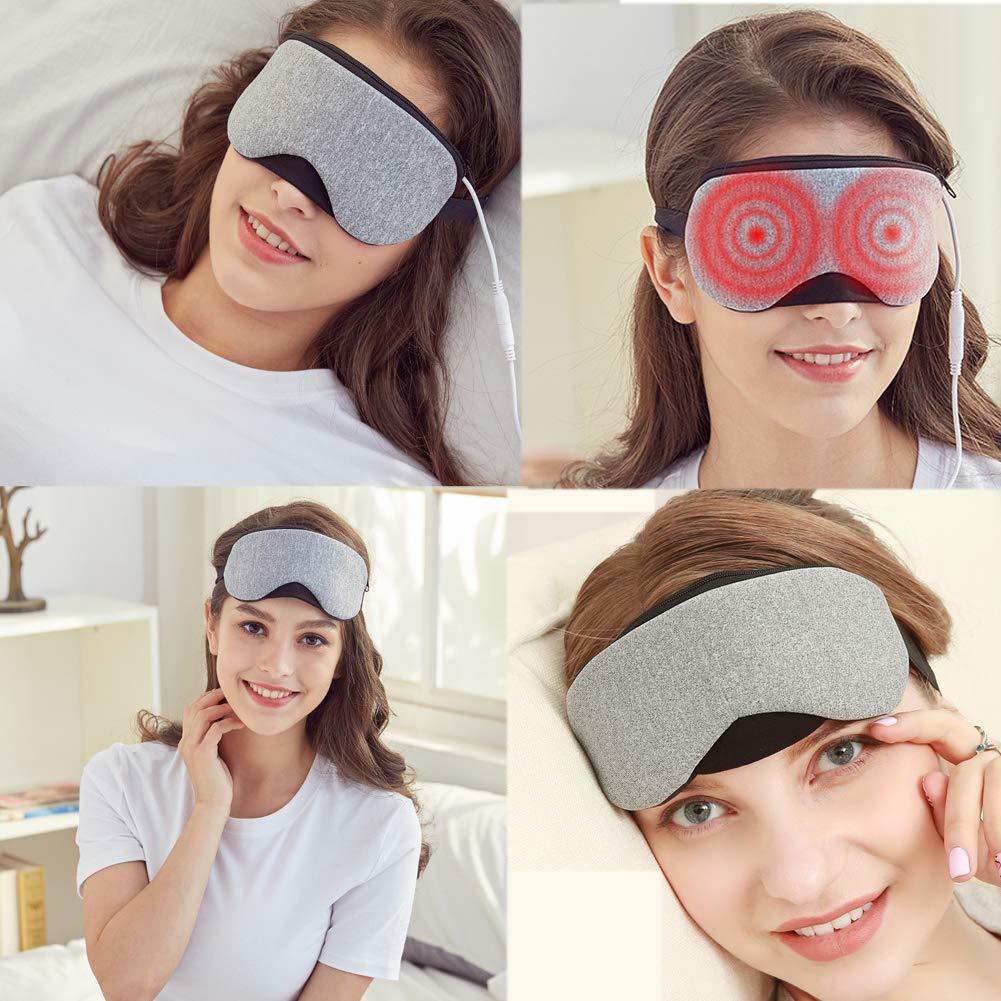 新品●EIALA ホットアイマスク USB電熱式 タイマー設定 5段階温度調整 LCDデジタル表示 蒸気 繰り返し使える M6956_画像9