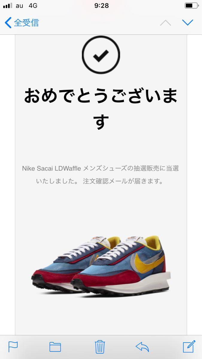 26.5cm SNKRS購入 LDワッフル SACAI × NIKE LDWAFFLE サカイ × ナイキ ☆新品未開封_画像3