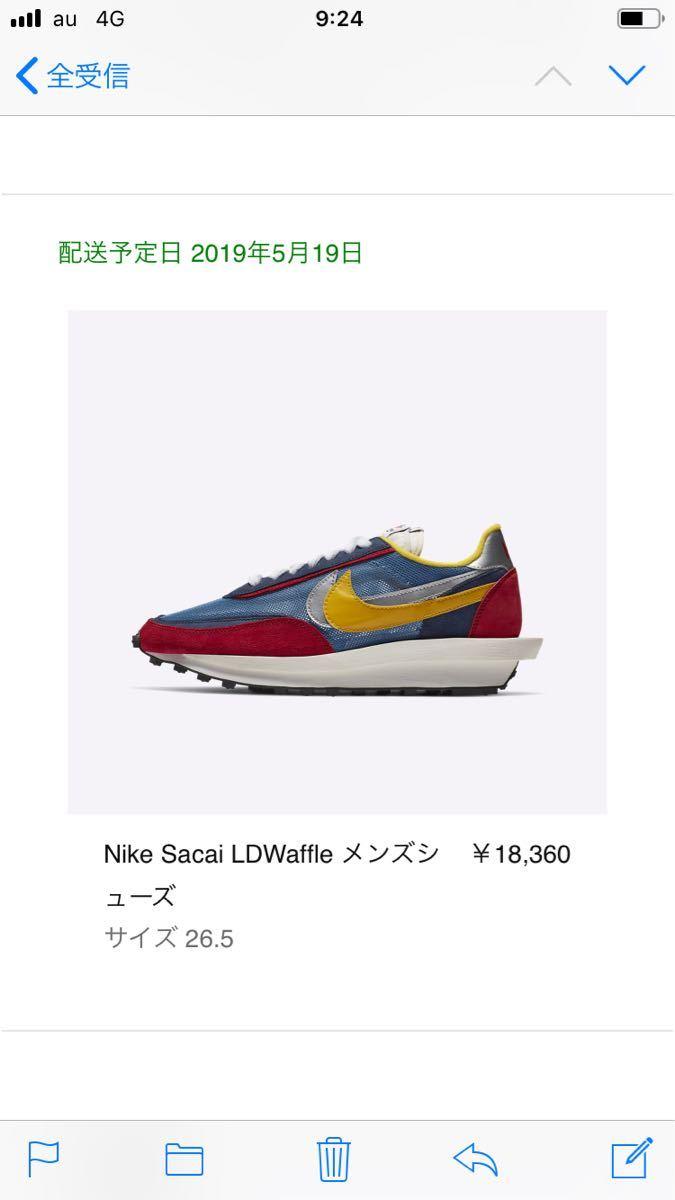 26.5cm SNKRS購入 LDワッフル SACAI × NIKE LDWAFFLE サカイ × ナイキ ☆新品未開封_画像2