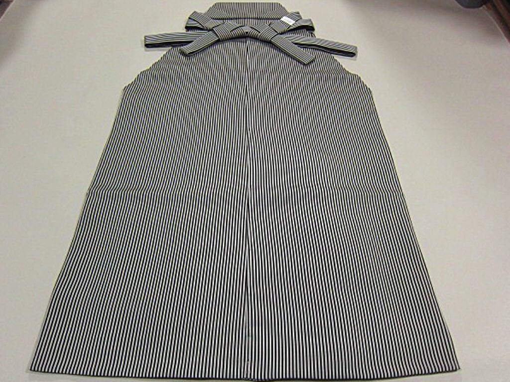 上質な逸品 夏物 新品【御仕立上】 正絹 米沢織 絽高級袴 馬乗り型 毘龍 安部吉謹製