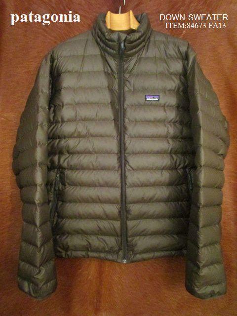 パタゴニア Patagonia 84673 FA13 茶 ブラウン ダウン セーター ジャケット M 美品ながら小疵あり