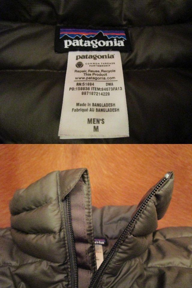 パタゴニア Patagonia 84673 FA13 茶 ブラウン ダウン セーター ジャケット M 美品ながら小疵あり_画像6
