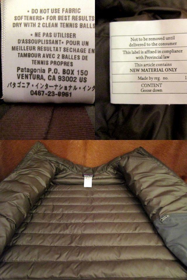 パタゴニア Patagonia 84673 FA13 茶 ブラウン ダウン セーター ジャケット M 美品ながら小疵あり_画像7