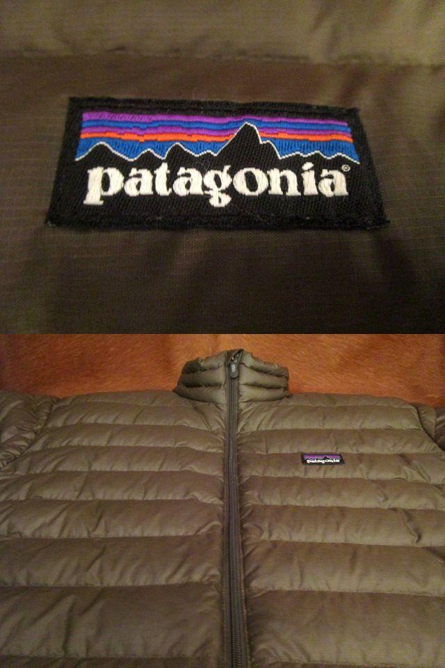 パタゴニア Patagonia 84673 FA13 茶 ブラウン ダウン セーター ジャケット M 美品ながら小疵あり_画像8