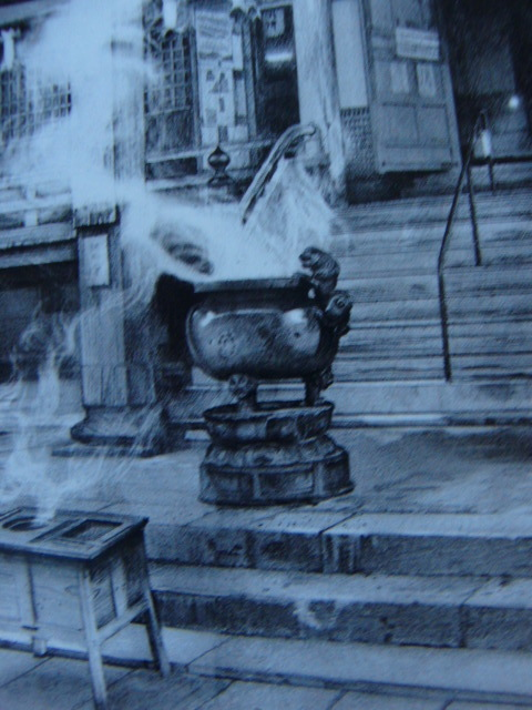 諏訪 敦 【青岸渡寺】 希少画集画、状態良好、新品高級額装付、送料無料、洋画 油彩 風景_画像5