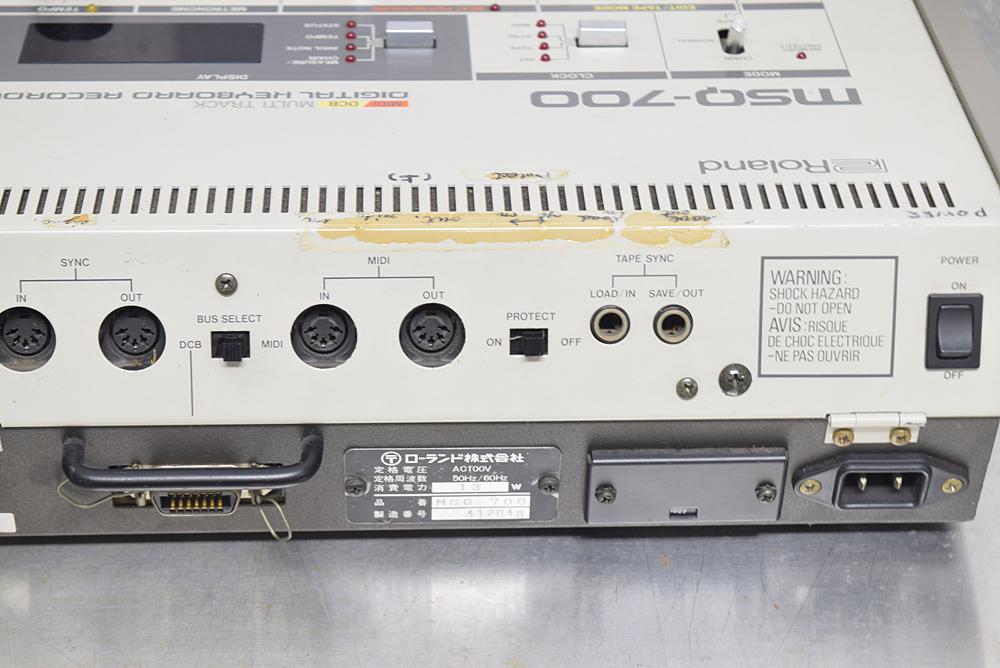 ★Roland/ローランド★MIDIシーケンサー/DCB マルチトラック デジタルキーボードレコーダー MSQ-700_画像6