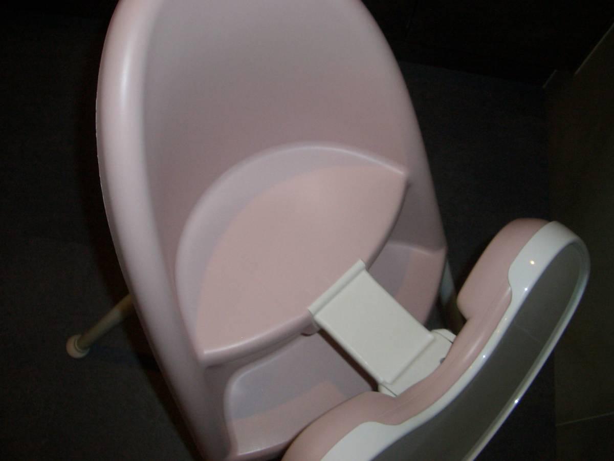 27,000円 ベビービョルン ハイチェア 美品 BABYBJORN一番人気のピンク ベビーチェアチェアーベッドコンビベビーラックテーブル椅子机_画像8