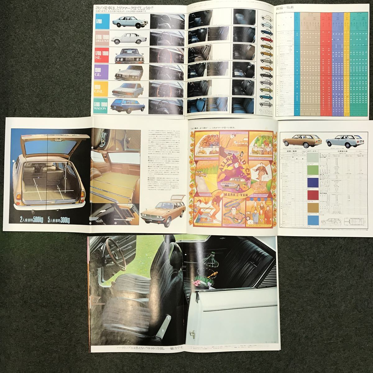 コロナマークII マークIIVAN マークIIハードトップ 古いカタログのセット_画像4