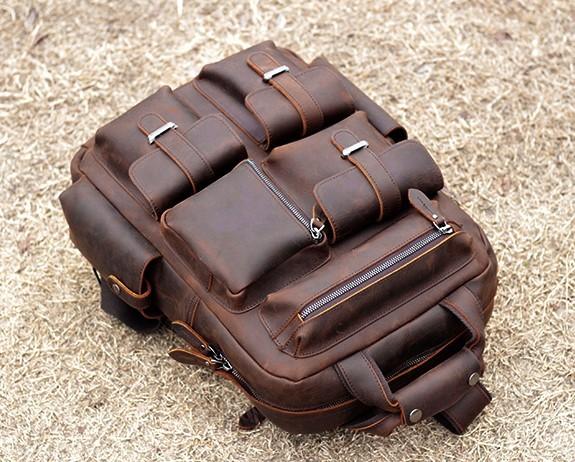 ★職人の手作りバッグパックスポーツバックパックトラベルバッグ手作り牛革メンズバックパック多機能書類かばん_画像4