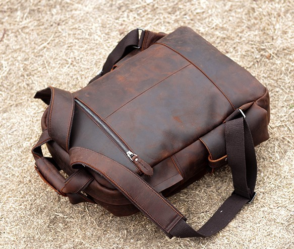 ★職人の手作りバッグパックスポーツバックパックトラベルバッグ手作り牛革メンズバックパック多機能書類かばん_画像5