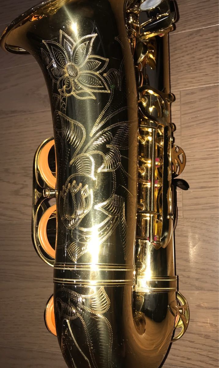 ヤマハ YAMAHA Custom カスタム EX YAS-875EX アルト サックス 管楽器 ギグパックケース 彫金_画像4