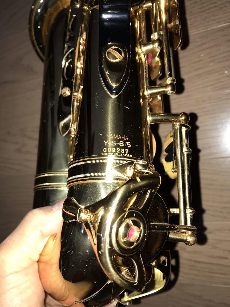 ヤマハ YAMAHA Custom カスタム EX YAS-875EX アルト サックス 管楽器 ギグパックケース 彫金_画像6