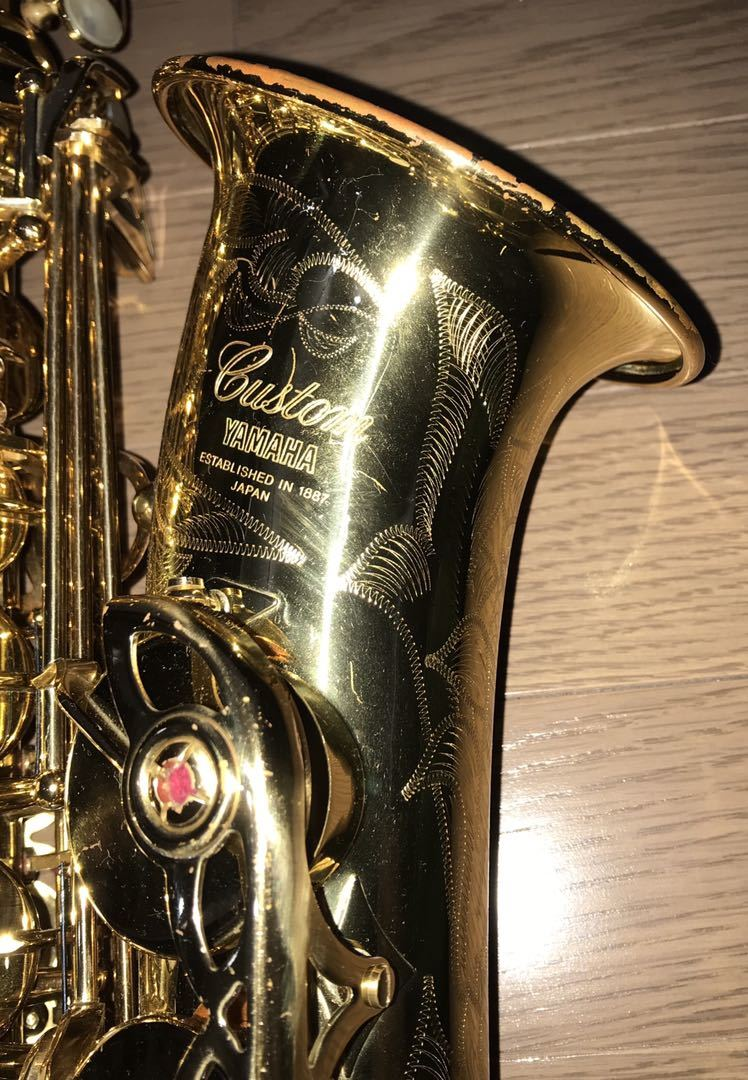 ヤマハ YAMAHA Custom カスタム EX YAS-875EX アルト サックス 管楽器 ギグパックケース 彫金_画像2