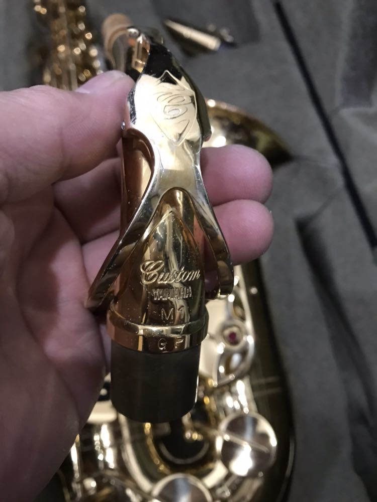 ヤマハ YAMAHA Custom カスタム EX YAS-875EX アルト サックス 管楽器 ギグパックケース 彫金_画像8