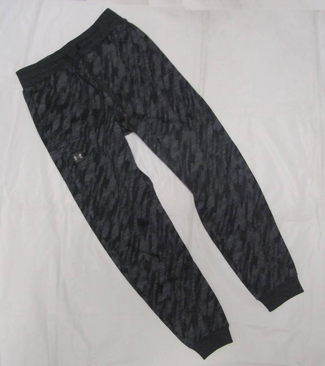 新品 XL O アンダーアーマー UNDER ARMOUR スウェット カモフラ 迷彩 黒 上下セット カモ メンズ ジャージ ブラック パーカー 本物 正規品_画像9