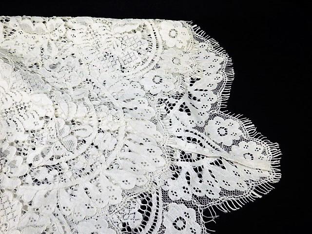 Diagram ダイアグラム レーススカート レース コットン 花柄 フラワー 綿 WHITE 白 スカート フリンジ SKIRT 36 レディース _画像4