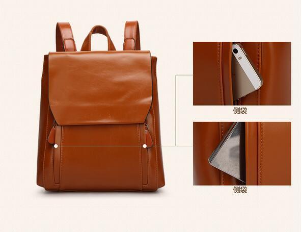 リュックサック デイパック大容量 レディース 肩掛け 斜め掛け バッグ PUレザー 多機能 ブラウン ショルダーバッグ 鞄 防水 超高品質_画像8