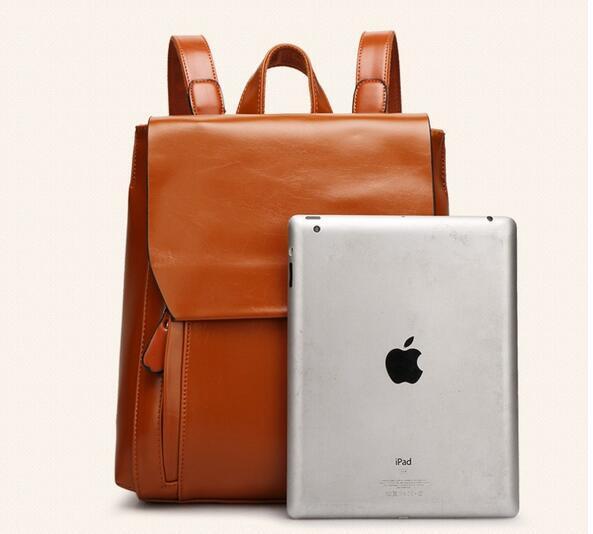 リュックサック デイパック大容量 レディース 肩掛け 斜め掛け バッグ PUレザー 多機能 ブラウン ショルダーバッグ 鞄 防水 超高品質_画像3