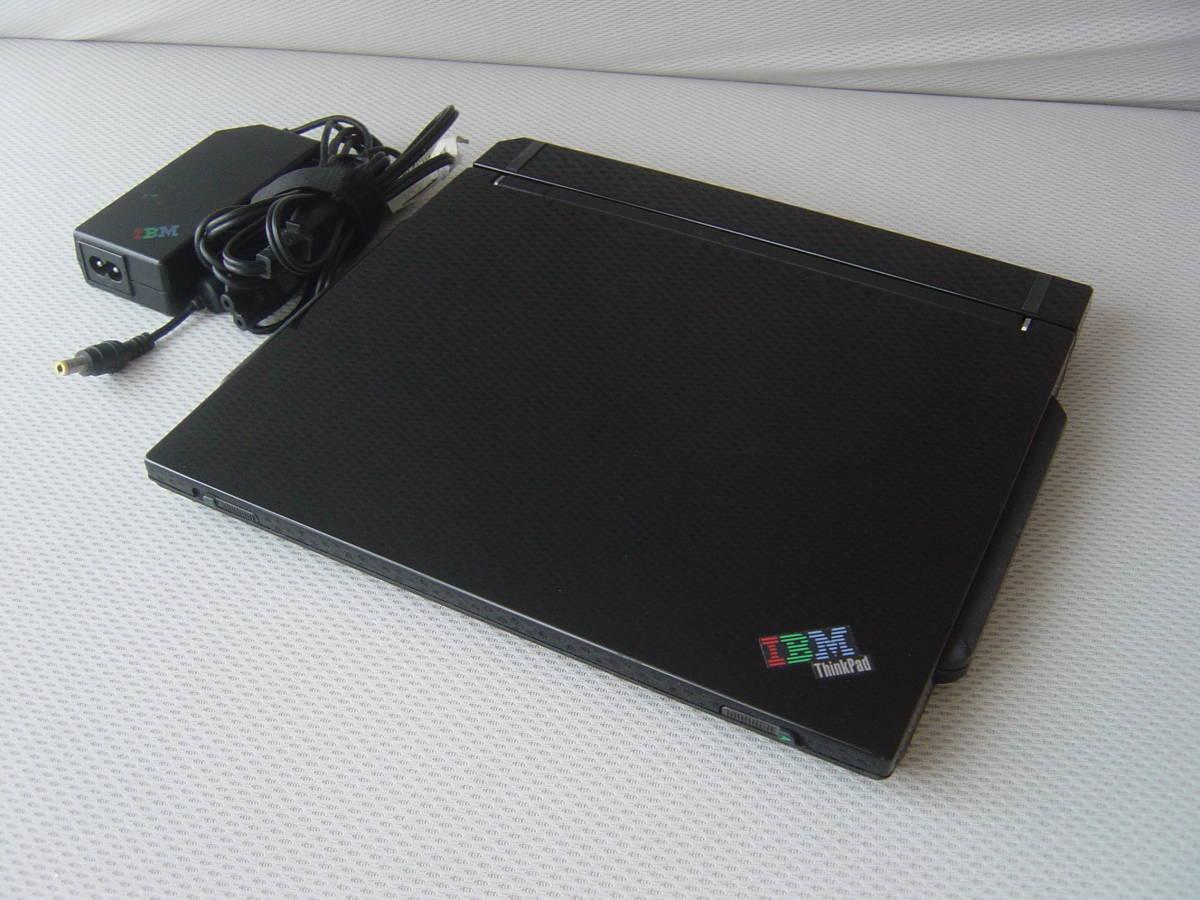 ★液晶難有★動作確認済み★IBM ThinkPad s30★ピアノブラック★
