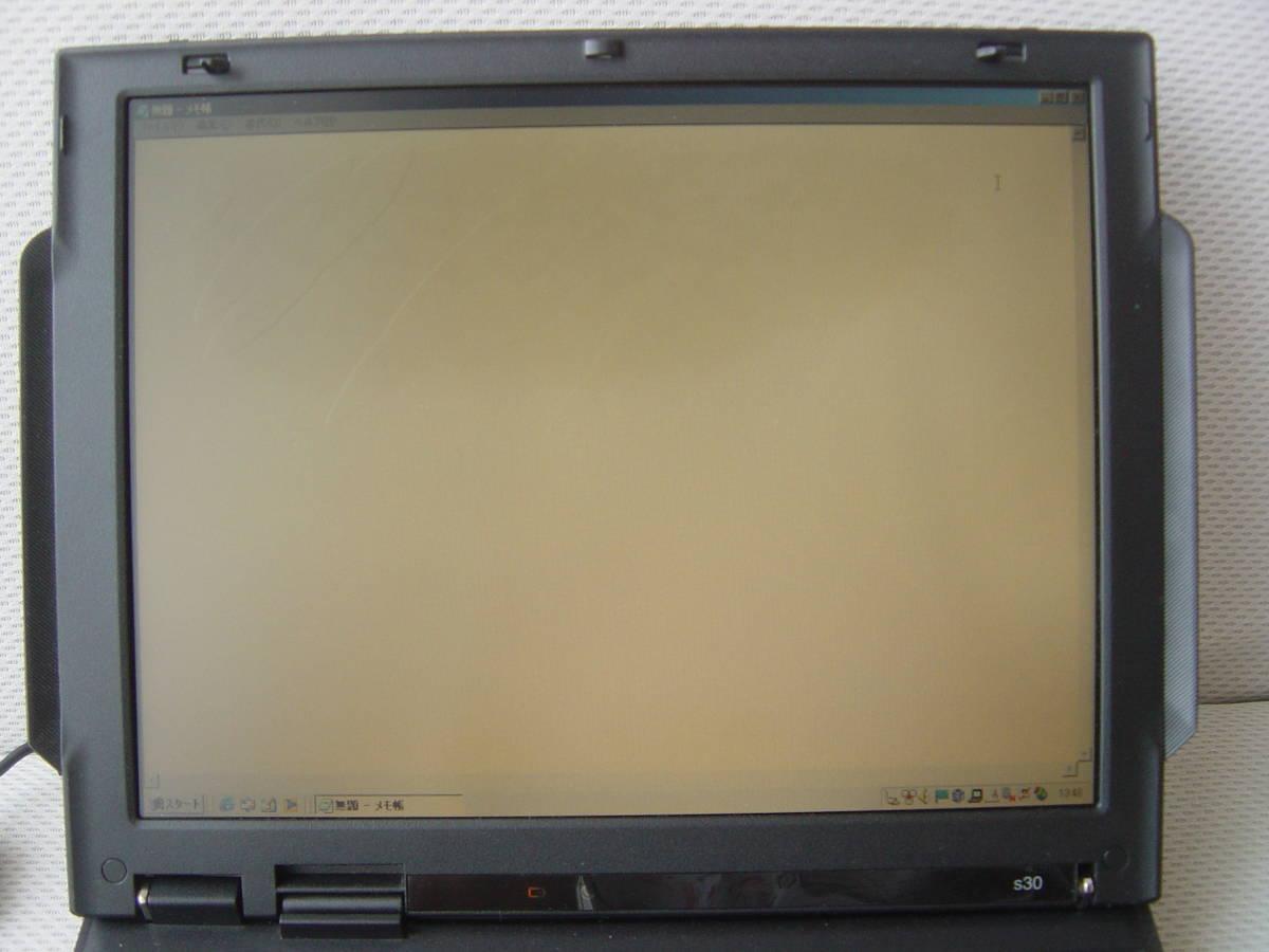 ★液晶難有★動作確認済み★IBM ThinkPad s30★ピアノブラック★_画像5