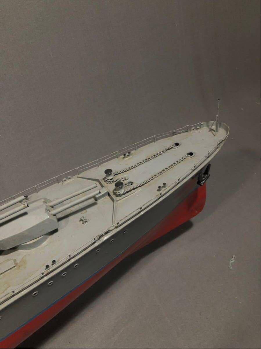 軍艦 模型 超特大 戦艦 金属製 木製 置物 矢矧 戦艦大和 軽巡洋艦 インテリア アンティーク 船 完成品 極上品 迫力 130㎝ 大日本帝国 海軍_画像4