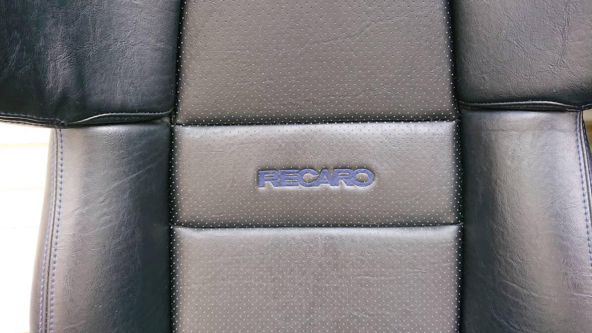 RECARO セミバケットシート2脚セット A8 ブラックレザー、パンチング、ブルーステッチ ポルシェ、NSX等2シーターに最適(SR-6,SR-3,SR6,SR3)_画像2