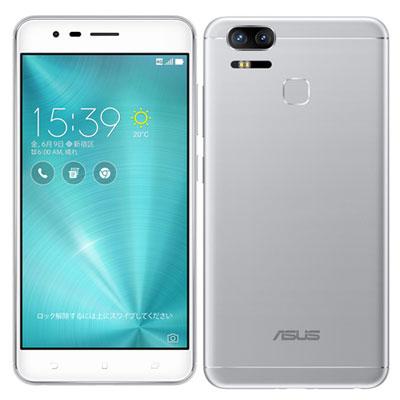 新品未開封品 ASUS ZenFone3 Zoom ZE553KL 4G/LTE対応(SIMフリー 4GB 64GB 台湾版)シルバー 本体 白ロム