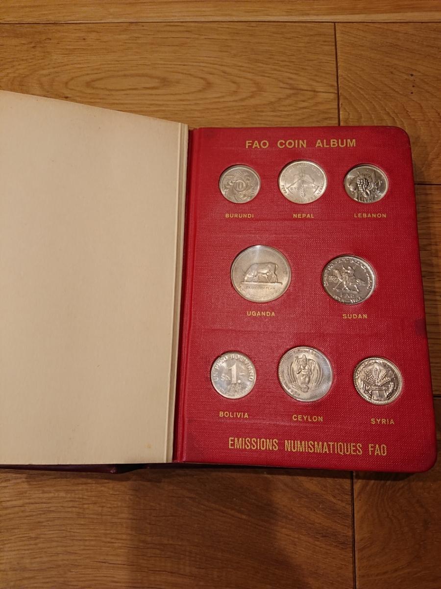 国連FAOコインアルバム第1部 レッド 計52枚 1968~1970年 貨幣 銀貨 MONEYALBUM_画像3