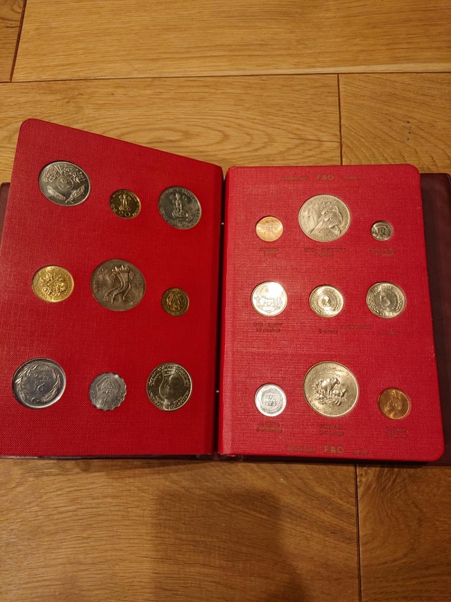 国連FAOコインアルバム第1部 レッド 計52枚 1968~1970年 貨幣 銀貨 MONEYALBUM_画像7