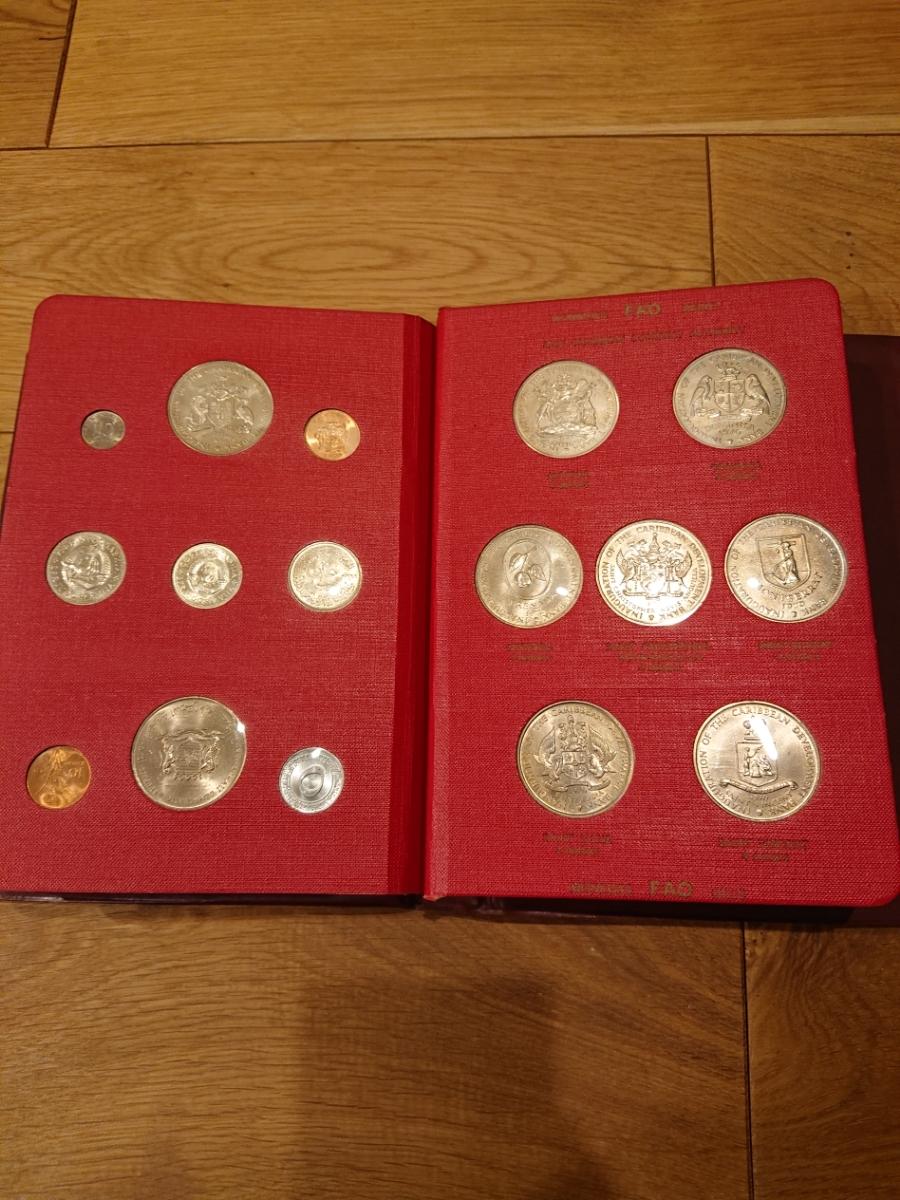国連FAOコインアルバム第1部 レッド 計52枚 1968~1970年 貨幣 銀貨 MONEYALBUM_画像8