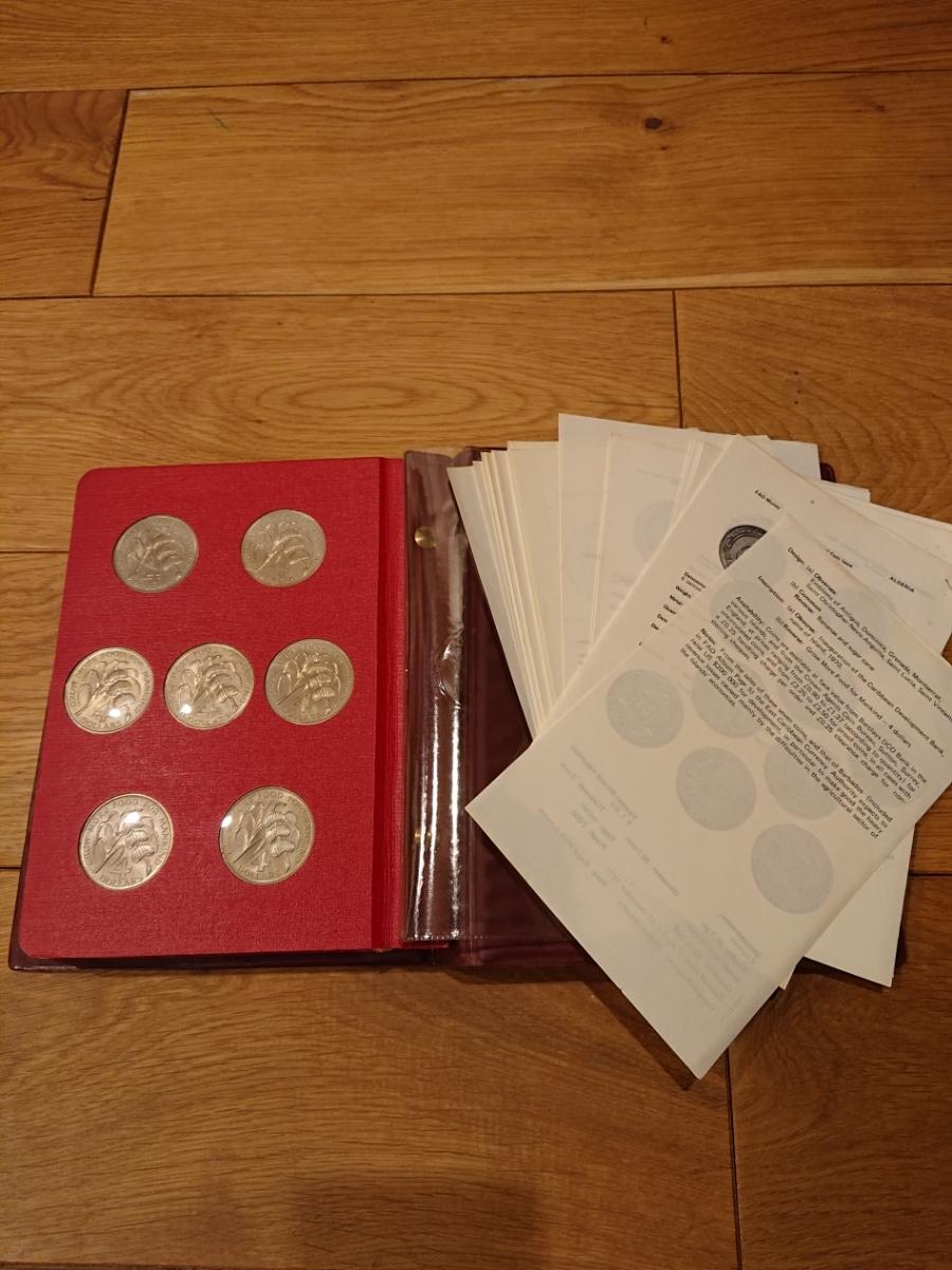 国連FAOコインアルバム第1部 レッド 計52枚 1968~1970年 貨幣 銀貨 MONEYALBUM_画像9