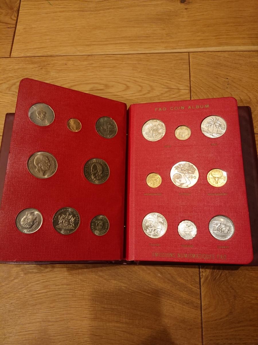 国連FAOコインアルバム第1部 レッド 計52枚 1968~1970年 貨幣 銀貨 MONEYALBUM_画像6