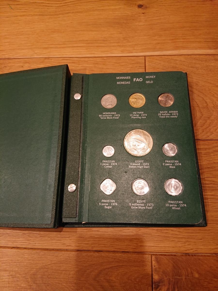 国連FAOコインアルバム第3部 グリーン 計32枚 1974年 紙幣 貨幣 銀貨_画像2