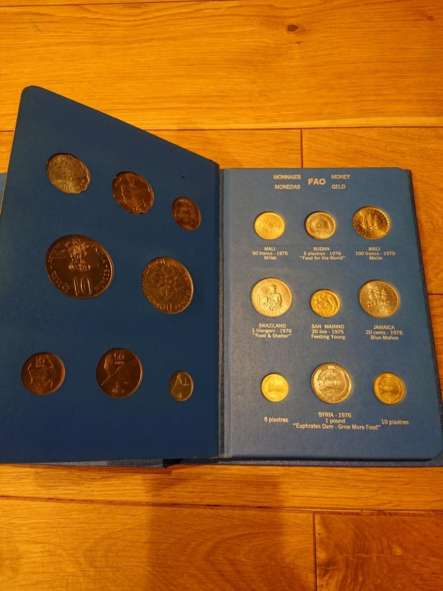 国連FAOコインアルバム第5部 ライトブルー 計34枚 1976年 貨幣 銀貨_画像3