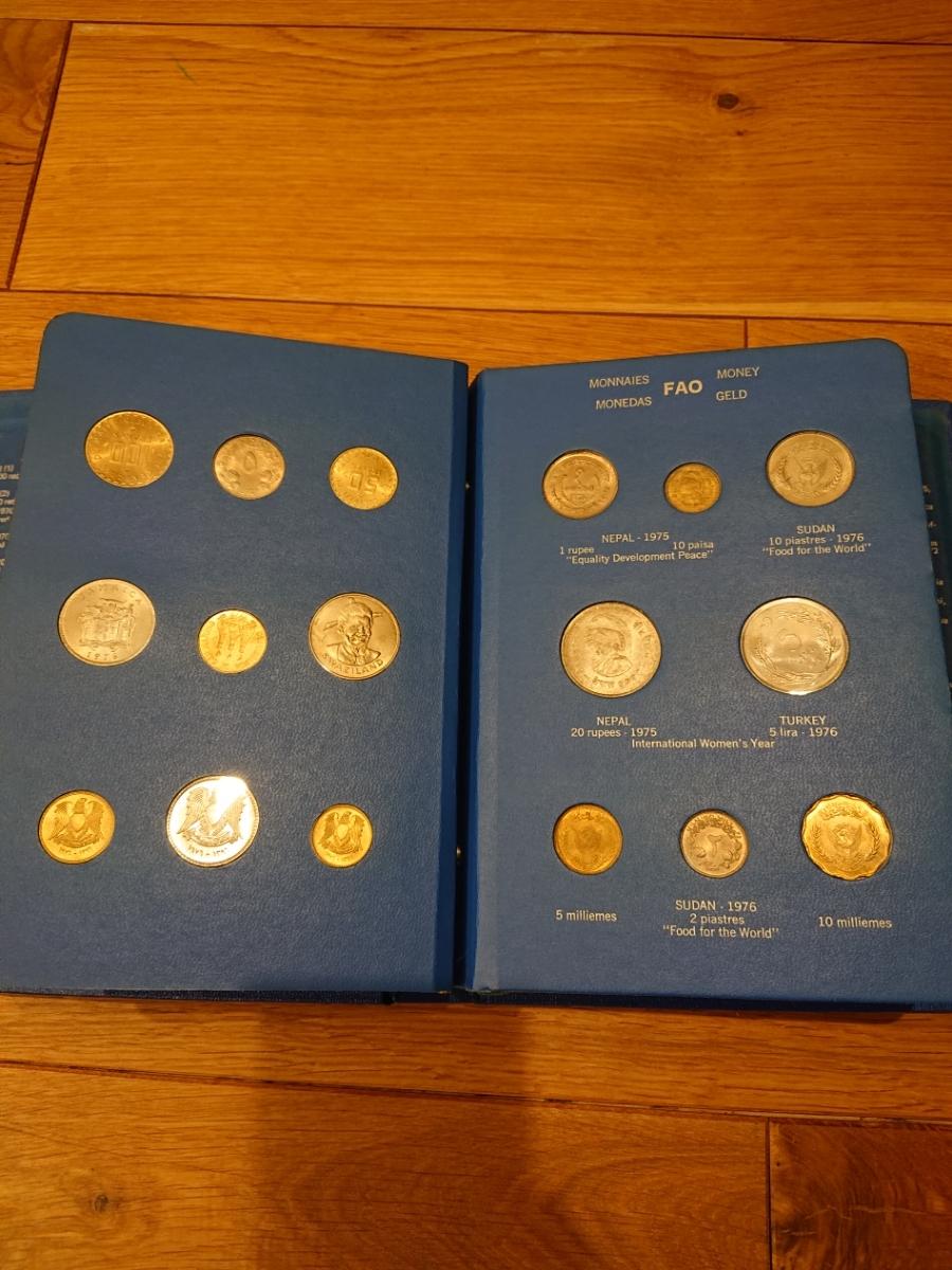 国連FAOコインアルバム第5部 ライトブルー 計34枚 1976年 貨幣 銀貨_画像4