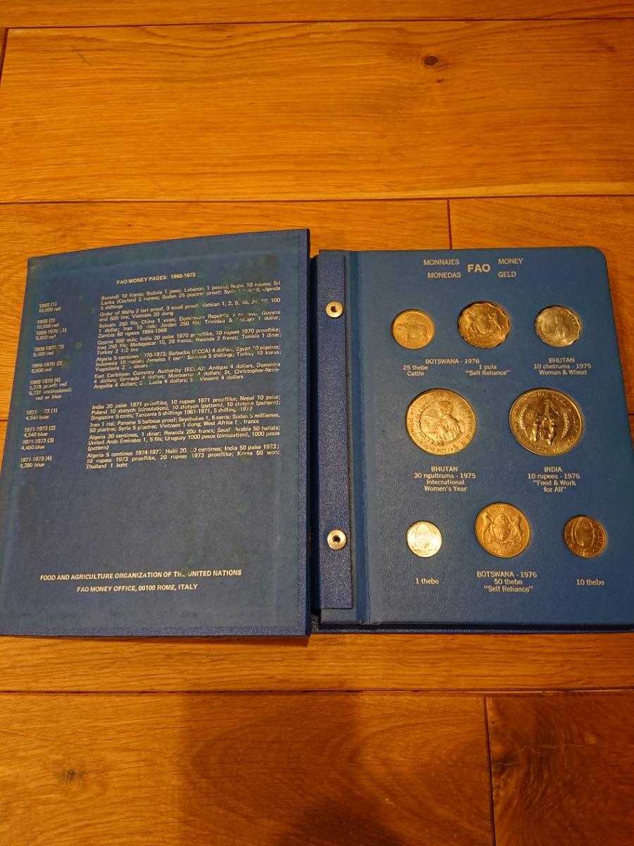国連FAOコインアルバム第5部 ライトブルー 計34枚 1976年 貨幣 銀貨_画像2