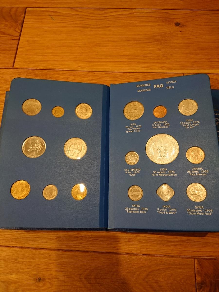 国連FAOコインアルバム第5部 ライトブルー 計34枚 1976年 貨幣 銀貨_画像5