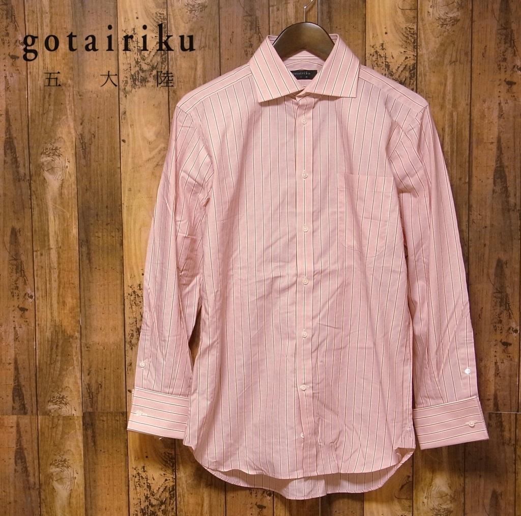【15 1/2】五大陸 GOTAIRIKU ストライプ 長袖シャツ ドレスシャツ 39_画像1
