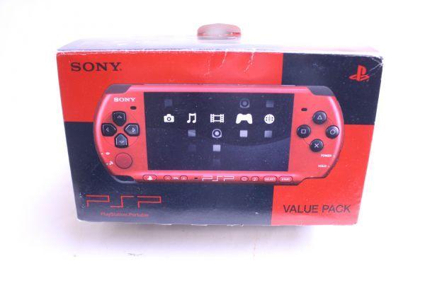 1円スタート 中古 SONY PSP3000 ブラック バリューパック 2個セット 箱付き プレイステーションポータブル