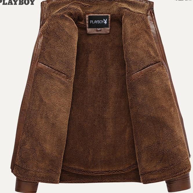 100%上層牛革レザーオートバイジャケット 高級感満載 高品質 本革 ライダースジャケット メンズ 紳士 上着_画像3